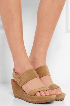 22ada2f018d2 Pedro Garcia - Francy suede wedge sandals