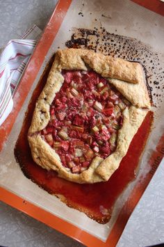 Nothing in the House: Strawberry Rhubarb Galette