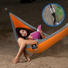 Archer Outdoor Gear Archer Double Nest Parachute Camping Hammock, Ropes and  Carabiners Included *** Awesome product. Click the item shown here : Camping gear