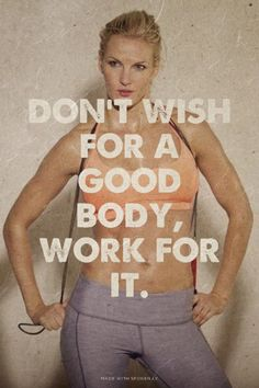 Work hard for the body that you want. Forget wishing! http://www.onesteptoweightloss.com/21-day-fix-workout-review #15LBWeightLoss