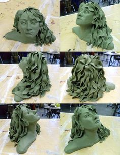 Clay Bust Sculpture | Clay Portrait Bust by alexandriatiffany on DeviantArt