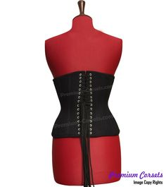 Inner Shell: Strong Cotton Jean Use As A Lining In This Corset. Sexy Corset, Underbust Corset, Cotton Lace, Black Cotton, Tightlacing, Custom Corsets, 100 Cotton Jeans, Boned Corsets, Waist Trainer Corset