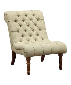 Look what I found on #zulily! Green Tufted Accent Chair by Coaster #zulilyfinds