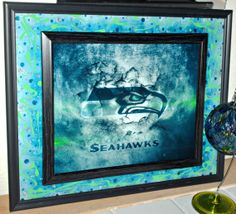 NFC Champions Seattle Seahawks Inspired Hand by GlassByPriscilla, $119.99