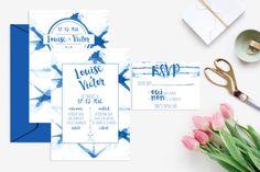 Printable Wedding invitation with rsvp card  par CactusRosePaperCo