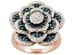 Engild(Tm) 1.00ctw Blue Velvet Diamond(Tm)