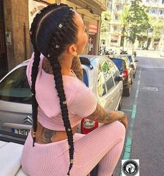 35 Cornrow Hairstyles Cornrows are an amazing way of styling your hair in unique and creative ways. The styles you can create with cornrows are limited only by yo Feed In Braids Hairstyles, My Hairstyle, Braided Hairstyles, Short Hairstyles, Two Braids, Girls Braids, 2 Feed In Braids, 2 Cornrow Braids, 2 Braids With Weave