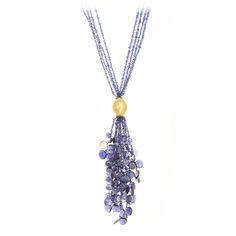 Necklaces :: Pendants & Enhancers :: Iolite Tassel Necklace -