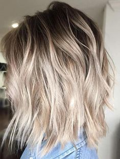 Ash Blonde Bob Hairstyles 2018 With Root Fade