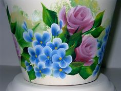 One Stroke Painting Flower Pot Art, Mosaic Flower Pots, Clay Flower Pots, Clay Pots, Paint Garden Pots, Painted Plant Pots, Painted Flower Pots, Clay Pot Projects, Clay Pot Crafts
