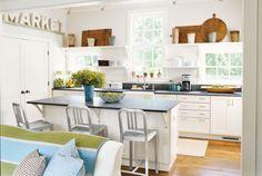 Bright white kitchen with farmhouse flair.