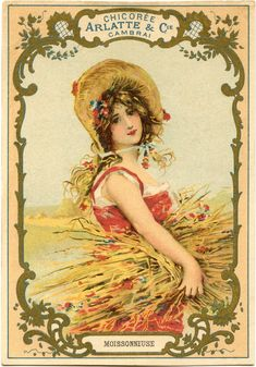 Autumn Harvest Woman Image - The Graphics Fairy