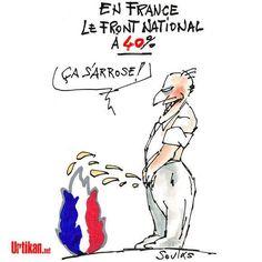 Soulas (2015-12-07) Régionales : Y'a d'la joie -  Dans le Nord-Pas-de-Calais-Picardie, Marine Le Pen, et en Provence-Alpes-Côte d'Azur, Marion Maréchal-Le Pen engrangent des scores inédits : plus de 40 % des voix dans les deux cas. La PME familiale se porte bien.  http://www.urtikan.net/dessin-du-jour/regionales-ya-dla-joie/