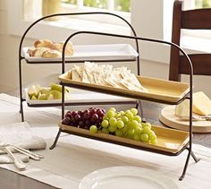 Gabriella Tiered Platter Stand #potterybarn    Like these would be great for my Yuletide tea event that I have every year