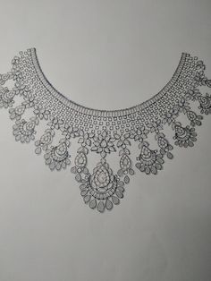 Real Diamond Necklace, Diamond Choker, Diamond Necklaces, Hand Embroidery Dress, Embroidery Motifs, Embroidery Designs, Fancy Jewellery, Diamond Jewellery, Engagement Jewellery
