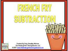 French Fry subtraction freebie!  Students will love practicing subtracting to 10 with this math resource!  Click to get your freebie!