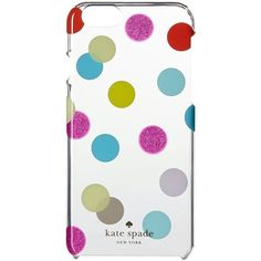 Kate Spade New York Balloon Dots iPhone Cases for iPhone 6 (Multi)... ($20) ❤ liked on Polyvore featuring accessories, tech accessories, multi, clear iphone cases, polka dot iphone case, iphone cases, iphone cell phone cases and iphone cover case