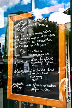 Items similar to Paris Fine Art Photography - French Cafe Menu - Print - French writing - Restaurant Menu Board on Etsy French Cafe Menu, French Bistro, Cafe Menu Boards, Grog, Parisian Cafe, Paris Party, Cafe Interior, French Food, Classroom Themes