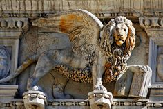 Doge s Palace Lion of St Mark Venice by Cedric Darrigrand Fu Dog, Lion Art, Lion Tattoo, Venice Italy, Doge, Les Oeuvres, Sculpture Art, Lions, Fine Art America