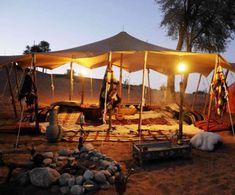 Bedouin Oasis Safari Camp - Experience a Desert Safari at The Bedouin Oasis in United Arab Emirates - minus the belly dancing! Abu Dhabi, Desert Life, Desert Oasis, Desert Safari Dubai, Desert Resort, Bedouin Tent, Camping Set Up, Wasteland Weekend, Beach Cabana
