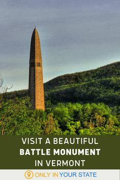 You'll love the beautiful views from the top of this historic Vermont monument. Beautiful Places In America, Hidden Beach, American Revolutionary War, Local Attractions, Green Mountain, Stunning View, Natural Wonders, Day Trips, Vermont