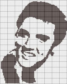 Elvis graph for afghan knitting pattern