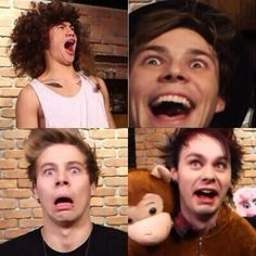 Calum: *in demented old lady voice* OH MY HEAVENS THERES A HELICOPTER ON THE CEILING Ashton: SPINNY Luke: EGH ITS GONNA HIT ME MICHAEL: Its not a helicopter... its a ceiling fan........ EHHHHHHHhh