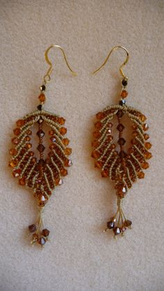 Instructions for Micro-Macrame Earrings