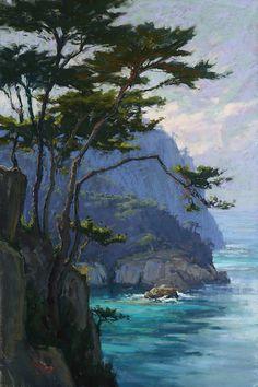 Cool Beauty by Kim Lordier Pastel ~ 36 x 24 Art Painting, Art Photography, Fine Art, Pastel Landscape, Painting, Oil Painting, Watercolor Landscape, Seascape Paintings, Landscape Art
