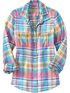 Women's Plaid Gauze Shirts | Old Navy - sale + promotion for $9