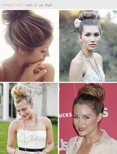 Ballerina bun hairstyle inspiration + tutorials ~ messy buns are the best