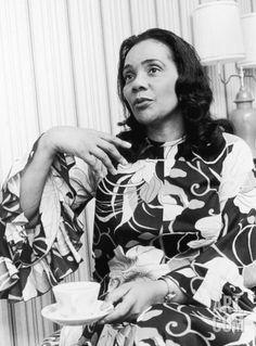 Coretta Scott King, photographed during a Montgomery Bus Boycott Anniversary event in 1975. Photo: Todd Duncan, from the Ebony/Jet collection at Art.com