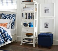 """$399.  Weird next to Bunk Bed? 24"""" wide x 18"""" deep x 65"""" high Chloe Etagere Bedside Table"""