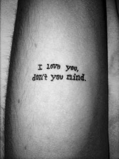 the 1975 lyric tattoo