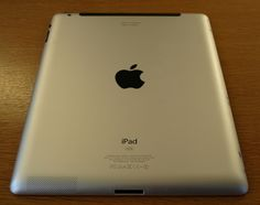 """1 of 26; A is for Apple. The iPad was ordered from Apple with the engraving; """"I've think I've evolved"""", followed by my name.     :) i love my ipad. Check out my website for some ipad tips."""