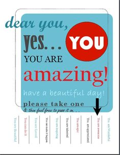 You are Amazing take one poster.jpeg - Google Drive