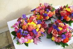 colourful wedding bouquet by Sweet Floral.
