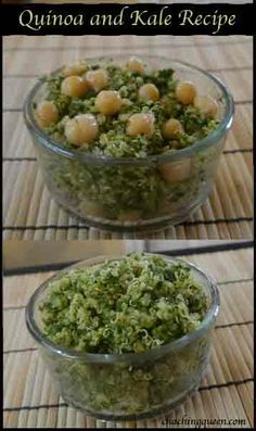 Healthy Quinoa and Kale Recipe (with optional Chickpeas)
