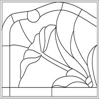 This is a stain glass easy patterns Stained Glass Patterns Free, Stained Glass Designs, Mosaic Patterns, Easy Patterns, Stained Glass Paint, Stained Glass Flowers, Stained Glass Panels, Mosaic Glass, Glass Art