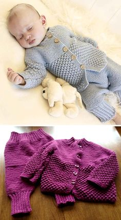 Blueberry Set of knitted socks, pants and jacket with round yoke and blackberry pattern for baby and children. Winter Knitting Patterns, Baby Cardigan Knitting Pattern Free, Baby Sweater Patterns, Baby Girl Patterns, Knitting For Kids, Free Knitting, Baby Knitting, Toddler Sweater, Baby Sweaters
