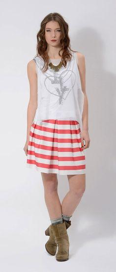 #striped #neoprene #skirt