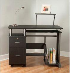 Rothmin Computer Desk Home Office Workspace Table Business Storage Furniture #Rothmin