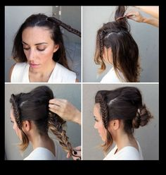 Shows you how to do a braided bun differently