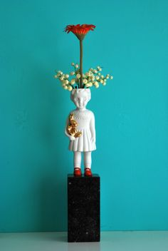 Clonette doll vase by Lammers en Lammers, two Dutch sisters who make traditional Dutch figures in porcelain.