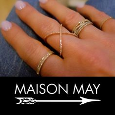 Sparkle today in one of our gorgeous rings! Shop MAISONMAY.com #affordable #beautiful #trendy #fashion #accessories #sparkle #maisonmay