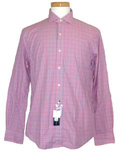 NEW Polo Ralph Lauren Mens Shirt Plaid Button Down Custom Fit Pink Sz XXL $89.50 #PoloRalphLauren #ButtonFront