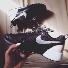 best service 0f794 f945e shoes nike black white leather cheetah print black white nike roshe cheetah  nike cheetah roshe run leo air max swag jordans