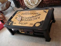 ouija board table finished ouija board coffee table i´m in love