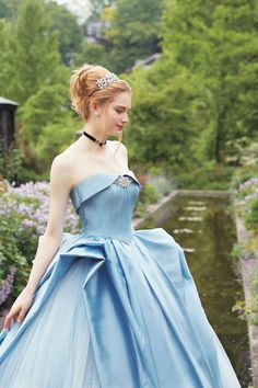 Disney Japan Co., Ltd. partnered with Japan-based wedding company Kuraudia Co. in August for a collection inspired by some of Walt Disney's iconic princesses. Disney Wedding Dresses, Disney Princess Dresses, Princess Wedding Dresses, Disney Inspired Dresses, Disney Princess Pictures, Cinderella Disney, Cinderella Wedding, Disney Dresses, Disney Princesses
