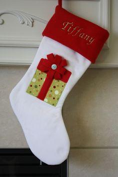 Items similar to Personalized Christmas Stocking on Etsy Christmas Stocking Pattern, Christmas Sewing, Christmas Crafts, Etsy Christmas, Swedish Christmas, Personalised Christmas Cards, Xmas Stockings, Handmade Christmas Decorations, Christmas Wonderland